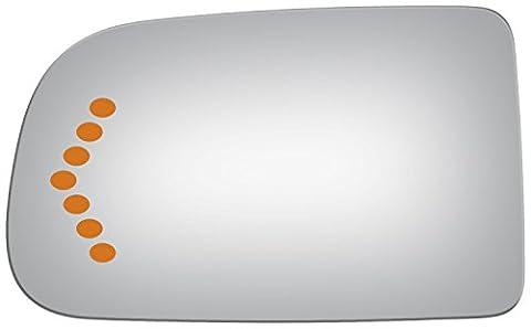 Burco 4001S Driver Side Mirror Glass w/ Signal for Chevrolet Silverado, Suburban, GMC Sierra, Yukon - Suburban Driver Mirror Glass