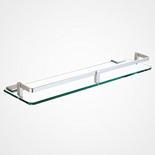 He Xiang Firm Shelves Space aluminum Bathroom Glass Shelf Single ...