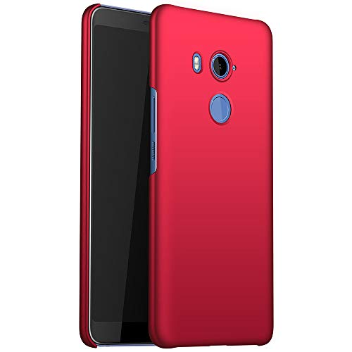 for HTC U11 Eyes Slim Case, ZUERCONG [Smooth Series] Ultra-Thin Anti-Fingerprints Anti-Scratch Anti-Drop Shockproof Hard Plastic Protective Back Phone Cases Cover,Smooth Red