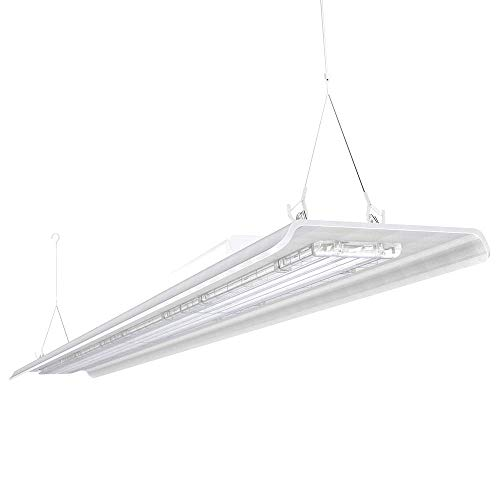 HYPERLITE 4FT LED High Bay Lighting 200W 28,000lm [800W Fluorescent Equiv.] 5000K Linear Fixture 1-10v Dimmable   UL&DLC Approved IP60   Meanwell Driver   Industrial Indoor Commercial Light 2-Pack (Commercial Slim 800 Get 1)