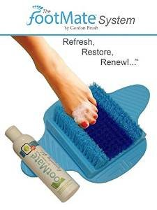 Footmate System Foot Scrubber w/ Rejuvenating Gel (Blue with Blue on Blue)