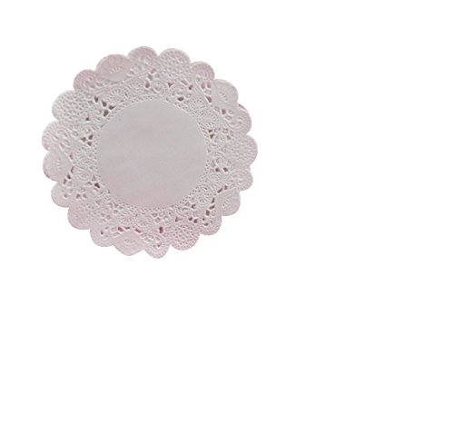 School Smart Round Paper Lace Doilies - 6 inch - Pack of 100 - White