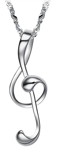 Womens Love Musical Note Pendant Necklace 18inch