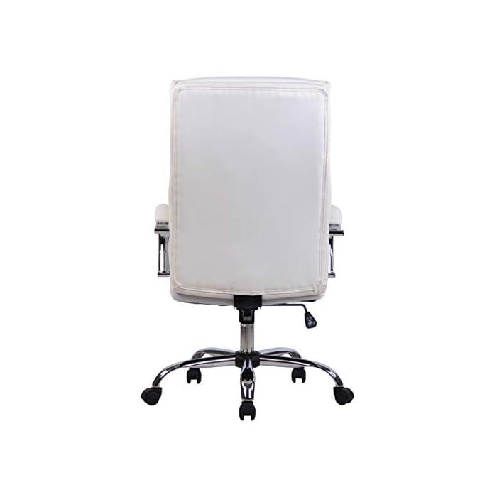 31i7ULFh4eL MATERIALES: La silla ejecutiva cuenta con un agradable acolchado y un tapizado disponible en tela (100% poliéster) o en cuero sintético (100% poliuretano) según su elección. La base está disponible en metal cromado, reistente y fácil de limpiar. CARACTERÍSTICAS: La silla de oficina ofrece una postura ergonómica gracias a su forma y cualidades de asiento, la libertad de movimientos viene dada gracias a su respaldo con mecanismo de balanceo, su asiento giratorio y regulable en altura. La silla de oficina es cómoda y ofrece gran libertad de movimientos. DIMENSIONES: La silla de escritorio cuenta con las siguienes medidas aproximadas: Altura: 112 - 122 cm I Ancho: 64 cm I Profundidad: 70 cm I Altura del asiento: 44 - 54 cm I Superficie del asiento (AxP): 54 x 52 cm I Altura del respaldo: 72 cm I Altura de los reposabrazos: 67 - 77 cm I Capacidad máx. de carga: 136 kg I Peso: 16 kg.