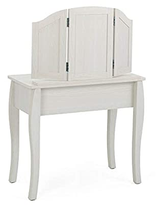 4D Concepts Vanity with Stool in Stone White Oak