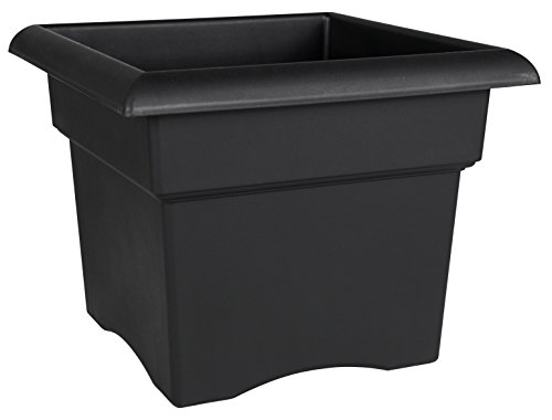Bloem Fiskars 18 Inch Veranda 5 Gallon Box Planter, Black (57918), 18-Inch,