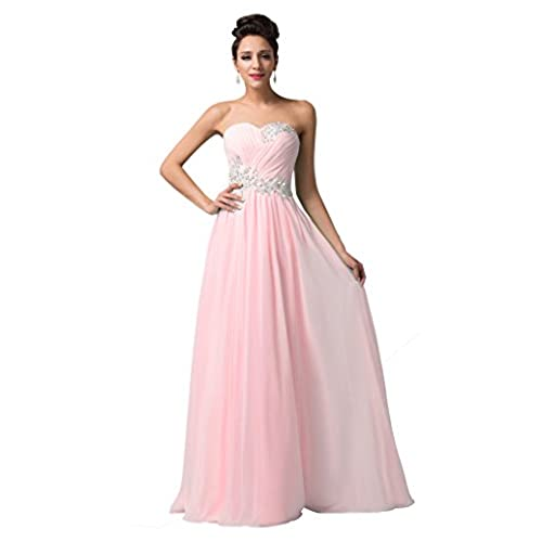 Light Pink Prom Dress Long: Amazon.com