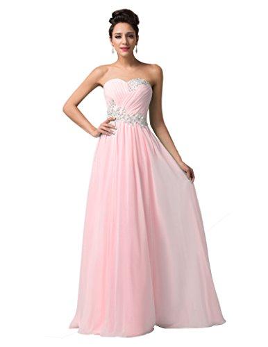 GRACE KARIN Stunning Bridal Wedding Dresses Sweetheart New Size 4 CL6107-2 (Prom Gown Chiffon Dress Satin)