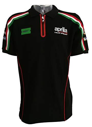 Aprilia Polo Racing 18 L Black (Polo Mens Racing)