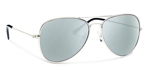 Forecast Optics Kennedy Sunglass with Silver/Silver Mirror Polycarbonate - Optics Kennedy