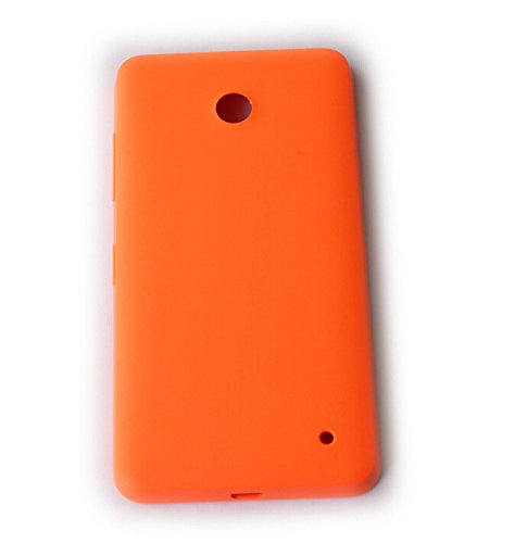 Feicuan Replacement Matte Housing Battery Rear Back Door Cover Case and Film Screen Protector for Nokia Lumia 630 635 636 638 - Orange (630 Screen Lumia Protector)