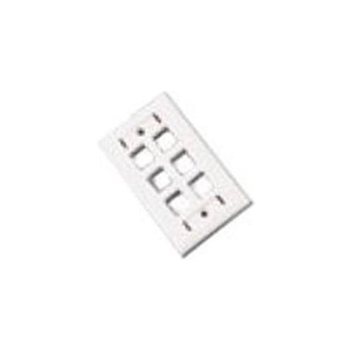 C2G 03714 Premise Plus Multimedia Keystone Wall Plate - Wall plate - ivory - 6 ports (Go Premise Plus Multimedia)
