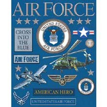 K&Company Military Deluxe Foil Embossed Stickers-Air Force