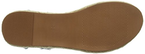 Sandalias Tantra Espadrille Metallic Blue Details With Leather Mujer Para Wedge Sandals TqwT1fC