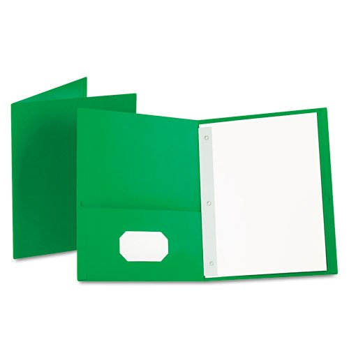 """Oxford Twin-Pocket Folders with 3 Fasteners, Letter, 1/2""""..."""