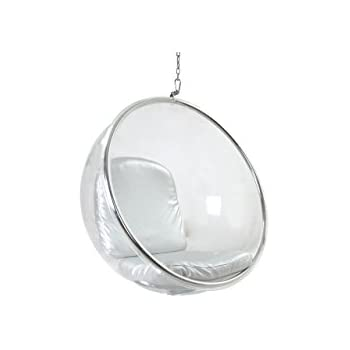 kardiel bubble chair hanging industrial silver cushion