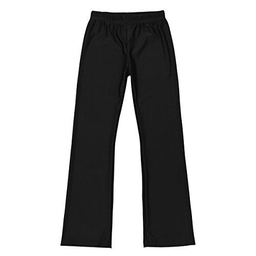 iiniim Kids Boys Girls Basic Boot Cut Jazz Dance Yoga Loose Pants Flared Leggings Lycra Spandex Gymnastics Dancewear (10)