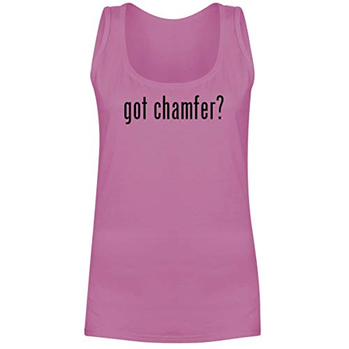The Town Butler got Chamfer? - A Soft & Comfortable Women's Tank Top, Pink, Medium