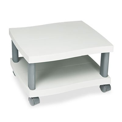 Wave Design Printer Stand, Two-Shelf, 20w x 17-1/2d x 11-1/2h, Charcoal Gray, Sold as 1 Each