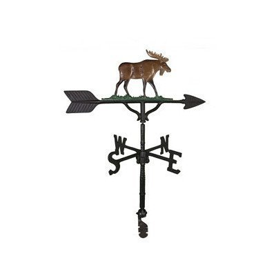 Montague Metal Products 32-Inch Weathervane with Color Moose Ornament by Montague Metal Products