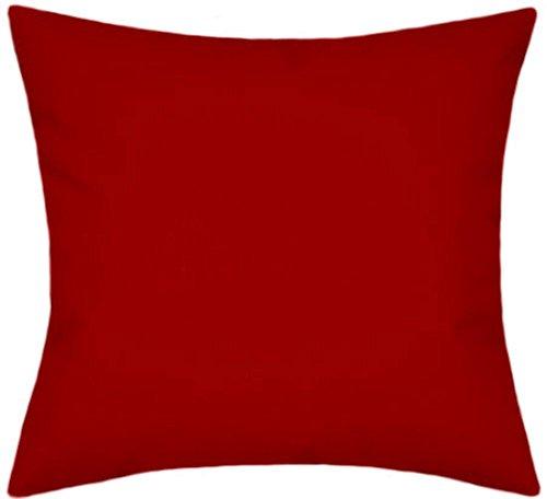 Sunbrella Canvas Jockey Red Outdoor/Indoor Patio Pillow 14x14 (Small) by TPO Design