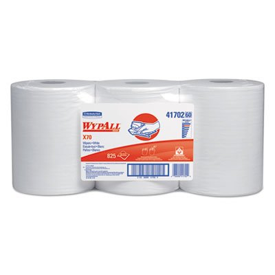 Kimberly-Clark 41702 White WYPALL X70 Wipers, Center Pull, 275 Sheet, 9.8