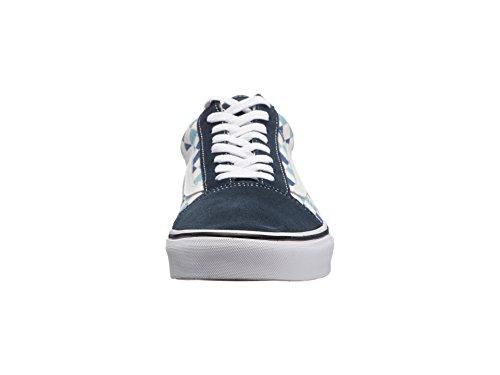Vans U Old Skool (QCM) (Checkerboard) Blue Topaz/Blue (13 Women/11.5 Men M US) by Vans (Image #4)