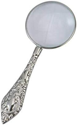 ZY-YY 金属製のハンドル拡大鏡ハイ拡大鏡ハンドヘルド拡大鏡ポータブルミラークラフト拡大鏡