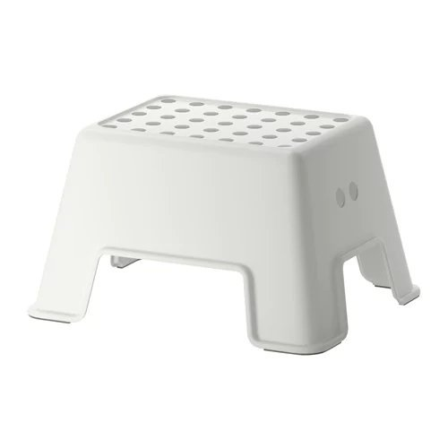 BBLP Bathroom/Wash basin Step stool in White, suitable for kids and Adults Ikeaa