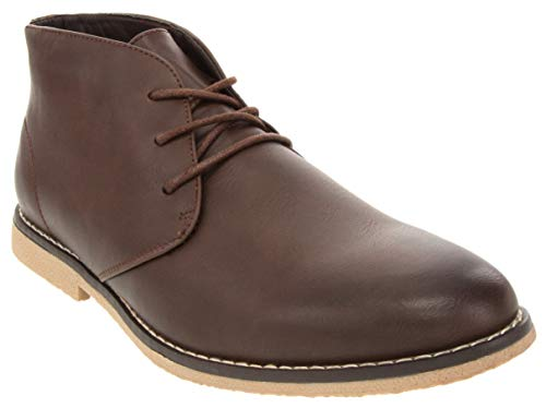 London Fog Mens Broadstreet Chukka Boot Brown 9 M US