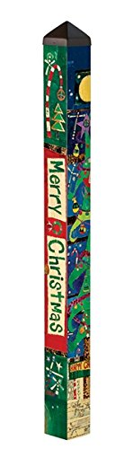 MagnetWorks PP227 4 ft. Merry Christmas Art Pole by MagnetWorks