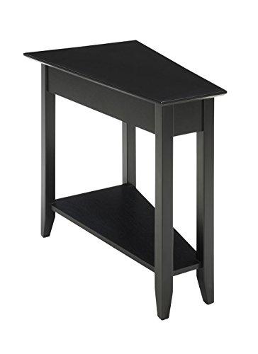 Amazon.com: Convenience Concepts mesa auxiliar de cuñ ...