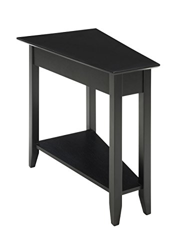 (Convenience Concepts American Heritage Modern Wedge End Table, Black)