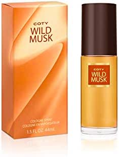 Coty Wild Musk Cologne Spray 1.5 Ounce Women's Fragrance in a Musky Floral Scent Great Gift for Cologne or Perfume Lovers