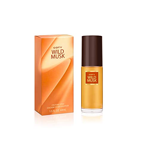 Coty Wild Musk Cologne Spray 1.5 Ounce Women's Fragrance in a Musky Floral Scent Great Gift for Cologne or Perfume Lovers (Coty Musk Wild Perfume)