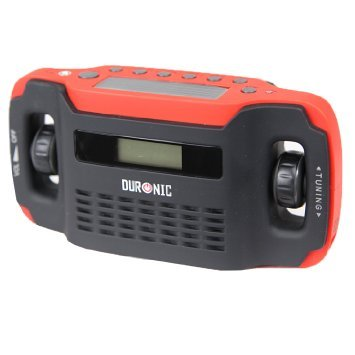 Duronic Apex Radio Digital Display Hand Crank Self-powered Solar Powered AM/FM Radio with Alarm Clock Torch & Phone Charging Function - NEVER NEEDS BATTERIES by Duronic