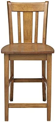 International Concepts San Remo Stool Barstool, Pecan