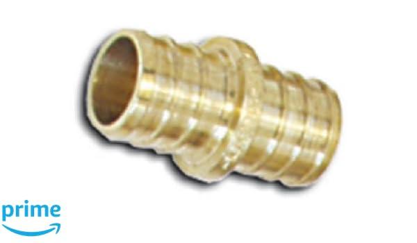 SharkBite UC008LFA10 1//2 Coupling PEX Barb Fitting Brass 10-Pack
