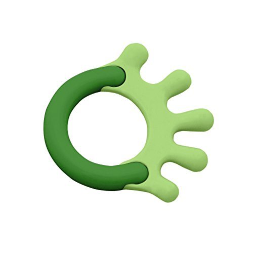 green sprouts Cornstarch Hand Teether, Green