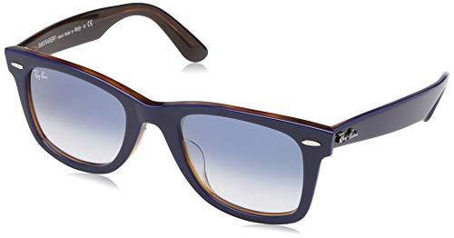 (Ray-Ban Men's Wayfarer Square Sunglasses, Top Blue on Red Havana, 52.1 mm)