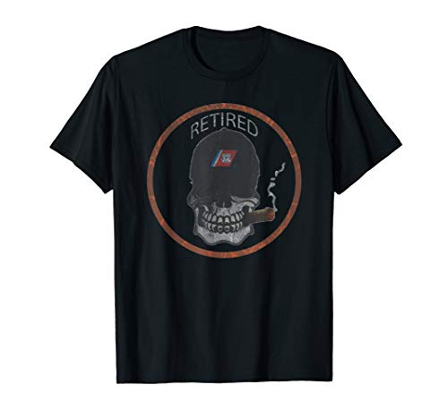 Mens COAST GUARD RETIRED RACING STRIPE SKULL T-SHIRT