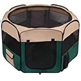Cheap 48″x48″x36″ Guinea Pig Dog Cat Exercise Playpen Cage 2-Door Puppy Crate Green