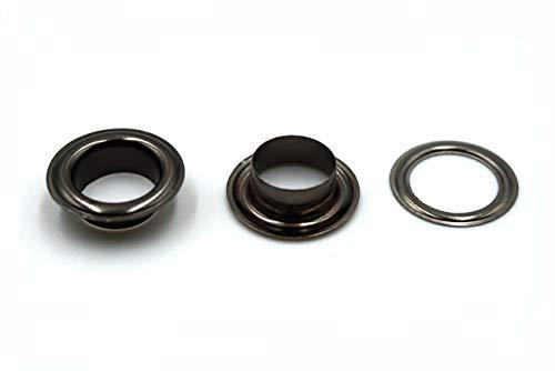 Gunmetal Grommets - Inton Solid Brass Grommets Eyelets 100 Pack (3/8
