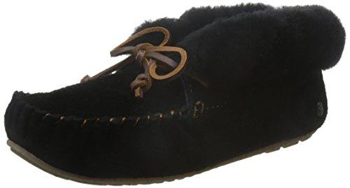 Emu Australië Damessokken Voor Dames Mocassins Moonah Sheepskin Zwart