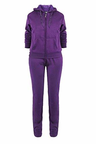 Lee Hanton Womens Athletic Fleece 2 Pcs Zip Hoodie & Sweatpants Tracksuit Set(S-3XL)