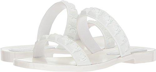 Stuart Weitzman Women's Rosita Slide Sandal, White TPU, 7 Medium ()