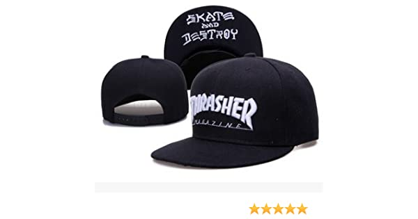 fbe4a7e75d8 Amazon.com  Thrasher Fashion Man s Unisex Snapback adjustable Baseball Cap  Hip Hop hat(color 16)  Sports   Outdoors