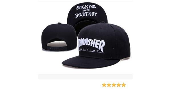 Amazon.com: Thrasher Fashion Mans Unisex Snapback adjustable Baseball Cap Hip Hop hat(color 16): Sports & Outdoors