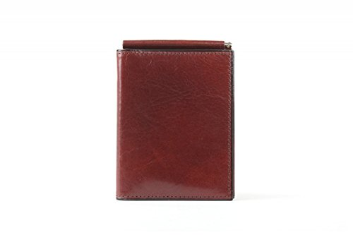 Bosca Men's Old Leather Money Clip with Pocket (Dark Brown)