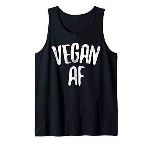 Vegan AF T-Shirt Vegan Gift Vegetarian Shirt Tank Top